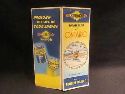 Sunoco Rolph Clark Stone Vintage Road Map of Ontario