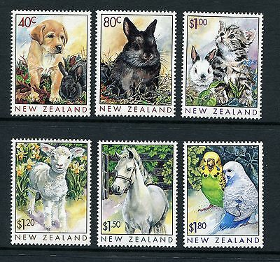 1999 New Zealand Mnh Sg 2232-2237 Popular Pets Commemorative Stamp Set