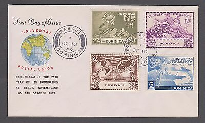 1949 Dominica U.P.U. set on illustrated 1st day cover nice used.