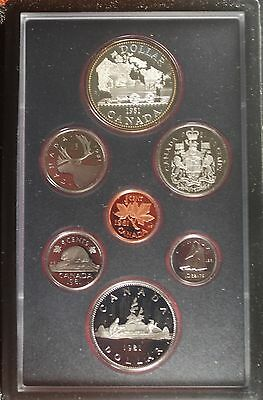 1981 Canada Canadian Double Dollar 7 Piece Proof Like Set Great Condition