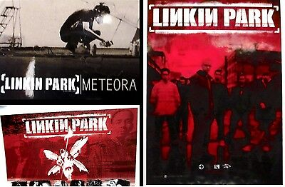 set 3x Linkin Park Textile Poster - Officially Licensed Banner Flag - Rock Music