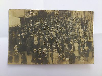 Old Social History Postcard Early Photo People At The Fair 1916