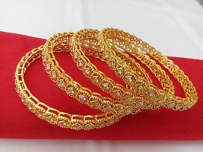 South Indian Jewelry Bangle Bracelet Bollywood Ethnic Gold Plated Traditional