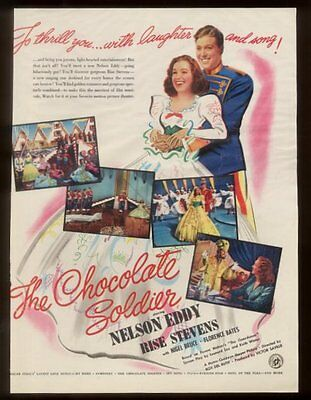 1941 Nelson Eddy photo The Chocolate Soldier movie release vintage print ad