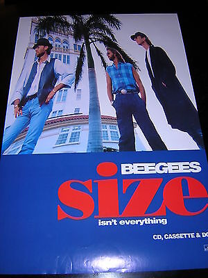 Original Bee Gees Promotional Poster - Size Isn't Everything