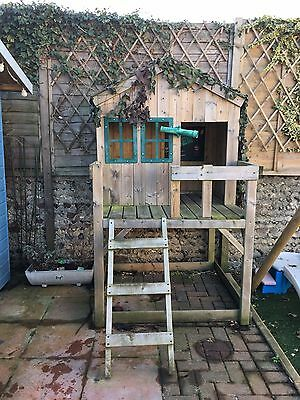 Childrens Wooden Outdoor Playhouse with Slide