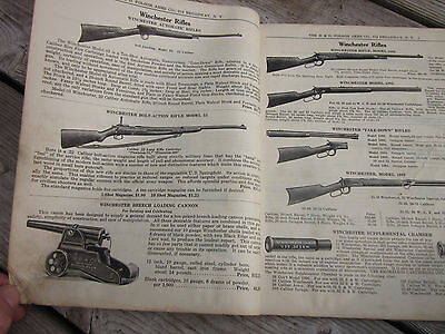 Vintage 1920s Gun Hunting Catalog Winchester Marble's Knife Sporting Poker Dice