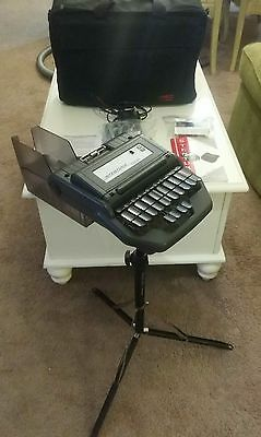 Stentura 200 SRT stand, case, paper tray, charger, cables, steno stenograph