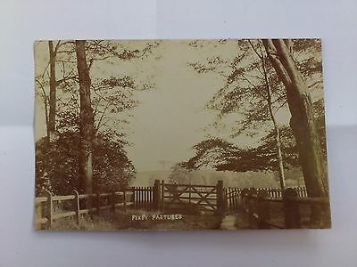Early Yorkshire Postcard Old Photograph Fixby Pastures Huddersfield