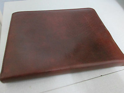Vintage Tan grained effect, real leather writing case - made in England