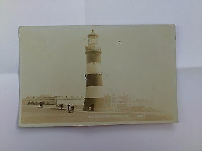 Early Devon Postcard Old Eddystone Lighthouse Plymouth Posted 1905