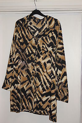 """Womens Clothes Plus Size 22  Silky Feel Blouse Bust 50"""",hips 52"""",32""""long New"""