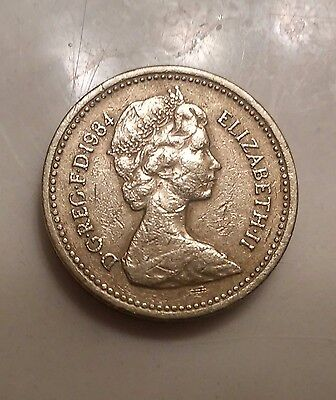 Rare 1 Pound Coin Emblem Scotland Order of theThistle 1984 Queen Elizabeth II(37
