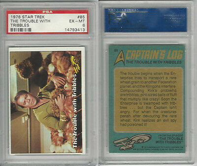 1976 Topps, Star Trek, #85 The Trouble With Tribbles, PSA 6 EXMT