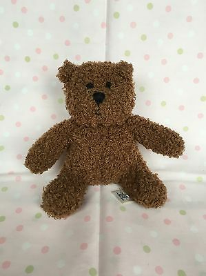 Baby Gap Dark Brown Teddy Bear Rattle 6""
