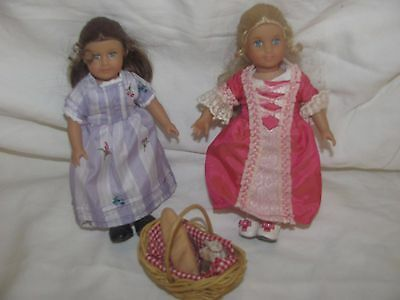 American Girl Doll Mini Felicity And Elizabeth Lot of 2 6""