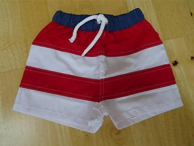THE LITTLE WHITE COMPANY baby boys stripe swim shorts trunks 0-3-6 MONTHS NEW