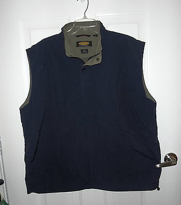 Playdry Golf Vest By Greg Norman Size Large Navy & Green Moisture Wicking Euc