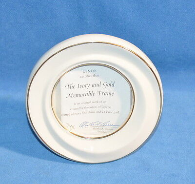 Lenox The Ivory & Gold Memorable Picture Frame Round