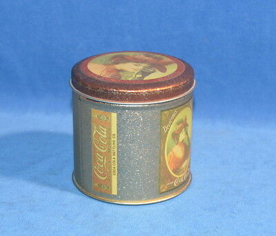 Coca-Cola  Tin Container Round Lady In Hat