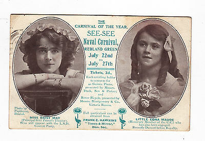 PC  Naval Carnival Redland Green Bristol 1912,Miss Daisy May,Little Edna  Maude