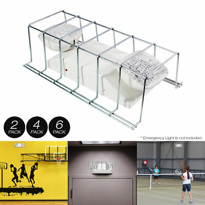 "2,4,6 pack Wire Guard Metal Cage Cover for Light Fixture/Exit Sign 16""x9"""