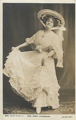 Early Postcard Of Miss Marie Studhulme An Edwardian Actress.