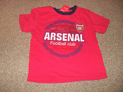 boys arsenal t-shirt age 4-5 years