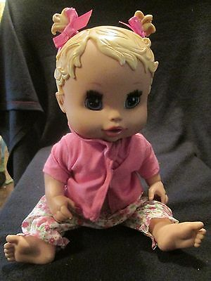 """13"""" Baby Alive Drink & Wet Doll 2006 Hasbro"""