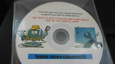 Ultimate windows boot disc, system restore & recovery cd for laptop OR P/C
