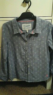girls joules shirt age 9-10