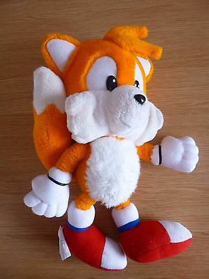 "Vintage Sonic The Hedgehog Tails Character Plush Stuffed Soft Toy 14"" Approx"