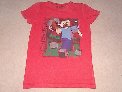 Boys Red Mincecraft T-shirt - size 146 cm - 11 years - Next - Excell.used