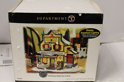 """Dept 56 New England Village """"Christmas Valley Toys and Dolls"""" 56677"""