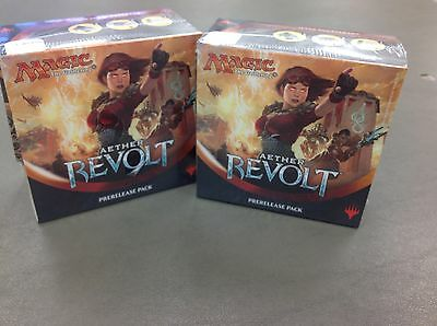 2 Magic The Gathering Aether Revolt Factory Sealed Prerelease Packs