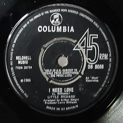 Little Richard 'i Need Love'  V.rare Northern Soul! Good Con