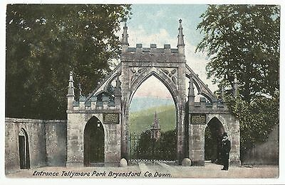 Old Postcard 'Entrance Tollymore Park' Bryansford Co Down