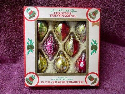 Beautiful Box Of Vintage Christmas Glass Ornaments From Romania