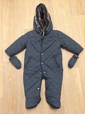 M&S Baby Quilted Snowsuit With Gloves 9-12months