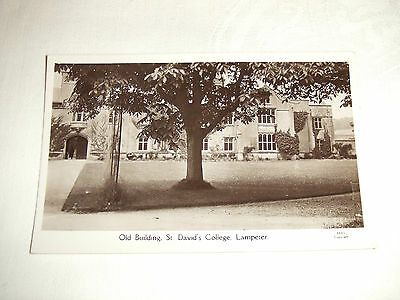 Old RP Real Photo Postcard ~ St.Davids College Old Building, Lampeter S.Wales