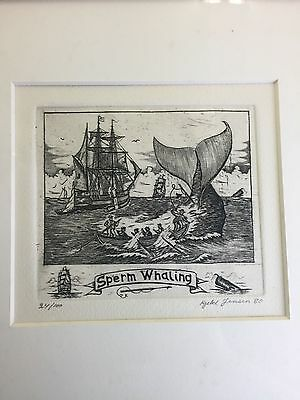 Signed Artist Lithograph Or Pen & Ink - Sperm Whaling