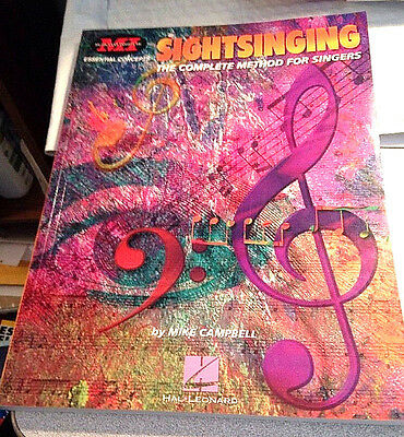 Sightsinging: The Complete Method for Singers (Musicians Institute) Lightly Used