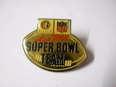 American football pin badge. All time super bowl team. Buick NFL  BN