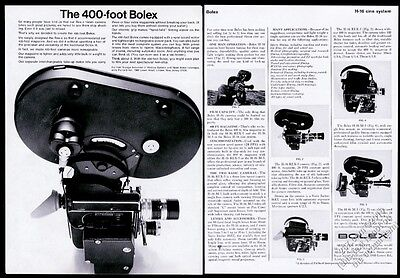 1967 Bolex Rex-5 H-16 M-5 movie camera with 400' magazine photo vintage print ad