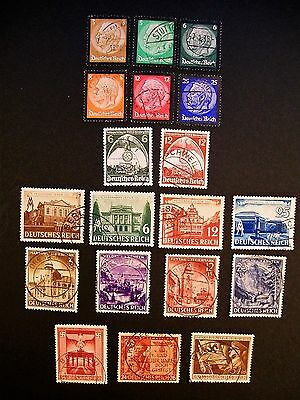 Germany  Reich Fine Used Sets & Single Issues Cat £46.85 !!
