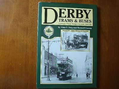 old 1980s PHOTOBOOK DERBY TRAMS BUS ALAN DOIG maxwell craven