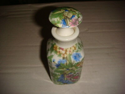 Giraud Limoges France Porcelaine de Paris Perfume Bottle Floral