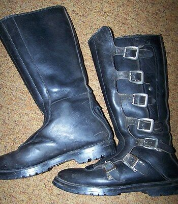 Vendramini 7 Buckle Motorcycle Boots, Made In Italy, Size 9 *nice*