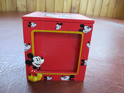 Disney Mickey Mouse Picture Cube/trinket Box