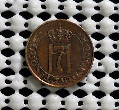 1910 Norway One Ore Coin